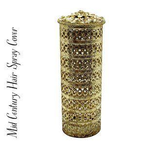 Gold Ormolu Mid-Century Hairspray Cover